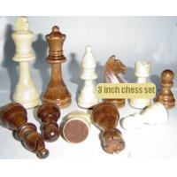 Buy cheap wood chess pieces chess pawn 32pcs chess set 3 inch from wholesalers