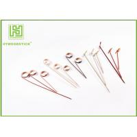 Buy cheap Thin Dried 6 Inch / 4 Inch Bamboo Skewers Bulk , Small Wooden BBQ Skewers For Appetizers from wholesalers