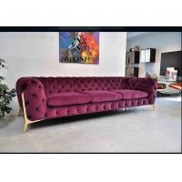 Buy cheap Red Fabric Chesterfield Sofa , Modern Chesterfield Leather Sofa Custom Service from wholesalers