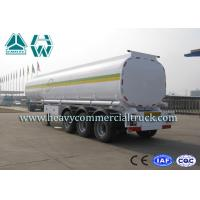 42000 Liters Fuel Tank Semi Trailer Super Single Tyre With Mechanical Suspension