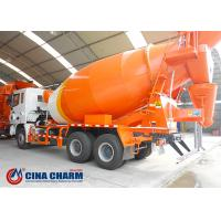 China Self Loading Concrete Mixer Truck , 8cbm Long Life Truck Mounted Cement Mixer on sale