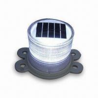 China Solar Warning Light, Flashing/Constant Light Mode Controllable by Magnet Switch on sale