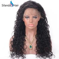Buy cheap Water Wave #1B Brazilian Remy Human Hair Hand Tied Full Lace Wigs from wholesalers