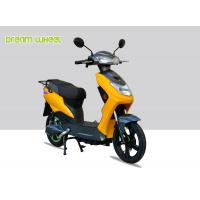 Buy cheap Yellow Black Narrow Body Pedal Assist Electric Bike 60-70km Distance , EEC Standard from wholesalers