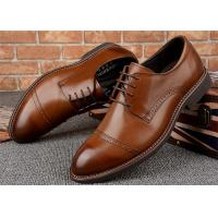 Buy cheap Quarter Brogues Cap Toe Mens Formal Dress Shoes , Mens Lace Up Dress Shoes from wholesalers