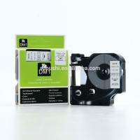 Buy cheap 12mm black on white compatible dymo D1 tape 45013 for DYMO labelManeger label printer from wholesalers