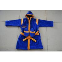 Buy cheap kids hooded velour terry dark blue robes with slipper for spa from wholesalers
