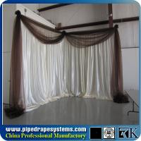 Buy cheap Aluminum Backdrop Stand Pipe And Drape stage For Wedding Decor trade show booths from wholesalers