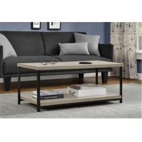 Buy cheap Rustic Square Wood And Metal Coffee Table , Industrial Metal Coffee Table For Sitting Room from wholesalers
