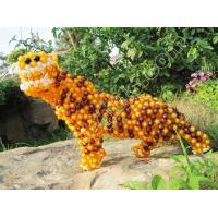 Buy cheap diy acrylic beaded tiger decoration lucky animal figurine product