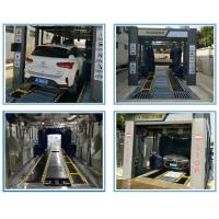 Buy cheap Automatic car wash with Dual Flat Belt Conveyor/ Tunnel type car washing systems from wholesalers