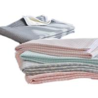 Buy cheap New product printing knitted cotton blanket fabric factory china from wholesalers