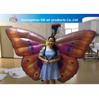 Buy cheap Custom Back Inflatable Lighting Decoration Butterfly Air BOW With Internal Blowewr product