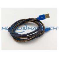 Buy cheap High- end Mfi Jean Cloth Heat Resistant Wire Sleeve For Denim Usb Cable Harness product