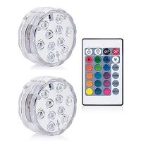 Buy cheap Rgb Submersible LED Lights Remote Controlled Bowl Shape 10 LEDs Type from wholesalers