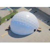 Buy cheap Transparent Geo Dome Tent Shelter With Soft PVC Fabric Wall/ Steel Tube Plastic Dipping from wholesalers