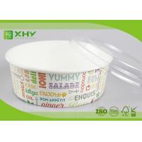 Buy cheap No Leak 1000ML Paper Salad Bowls Food Grade FDA & FSC & BRC & ISO Certification product