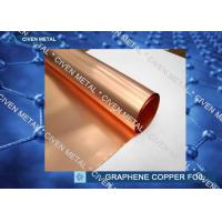 Buy cheap 99% High Purity Graphene Copper Foil Sheet , Graphene on Cu Foil Roll from wholesalers