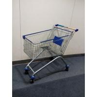 Buy cheap Four Wheels European Metal Shopping Trolley Cart With Baby Seat from wholesalers