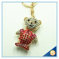 Buy cheap 3D Teddy Bear Cute Cartoon Rhinestone Animal Shape Key Chain for Valentine's Day Gift from wholesalers