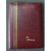 Buy cheap Burgundy Gold Stamped Register Funeral Memorial Books 6Ring Binder from wholesalers