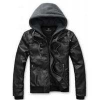 Buy cheap mens Thick Cow hide Leather Jacket Air vents Embroidered Logos Original Brass Buttons from wholesalers