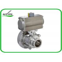 Buy cheap Hygienic Weld Clamp Flange Thread Tank Bottom Ball Valve With Aluminum Pneumatic Actuator from wholesalers