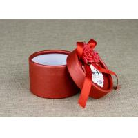 Buy cheap Ranged Ribbon Decorate Cardboard Wedding Box Spot Color Printing Art Paper Cover from wholesalers