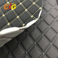 Buy cheap Car Seat Car Floor Embroidery PVC leather with High Density White Foam and White from wholesalers