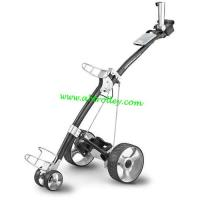 Buy cheap Carbon golf trolley runs for 36 holes Golf Bag Cart of quite motors electrical golf caddy from wholesalers