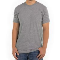 Buy cheap Grey Men Blank 100% Cotton Casual T Shirts Design Round Neck Digital 3d Printing from wholesalers