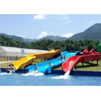 Outdoor Sprial Commercial Water Slides Exciting