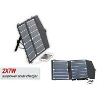 Buy cheap Folding 14w 12V Solar Panel Waterproof Solar Usb Charger With 5m Cable product