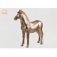 Buy cheap Decorative Gold Leaf Polyresin Animal Figurines Horse Sculpture Table Statue from wholesalers