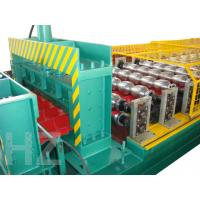 Chain Drive Roof Panel Roll Forming Machine With Touch Screen PLC Frequency Control System