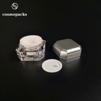 Buy cheap Two Layers Acrylic PP Cosmetic Cream Jars 5g 10g BPA Free product