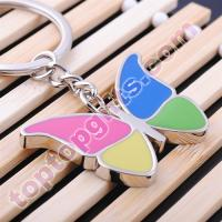 Buy cheap customized keychains metal butterfly key chain rings from wholesalers