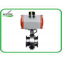 Buy cheap Hygienic Grade Sanitary Tri Clamp Butterfly Valve Compact Configuration , Large Size 1 - 8 from wholesalers