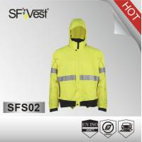Buy cheap safety sports wear bike jacket cycling protective jacket 100% polyester with two pockets from wholesalers