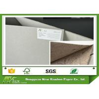 Buy cheap ONP / OCC Material 600gsm / 1mm Grey Board Gray Cardboard Paper Sheets Hard Stiffness from wholesalers