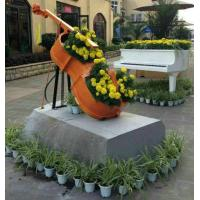 Buy cheap Beautiful Fiberglass Resin Elegant Violoncello Statue For Outdoor School Decoration from wholesalers