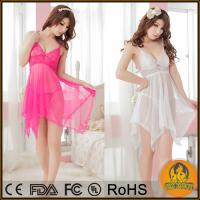 Buy cheap Sexy Lingerie Baby doll 4 Colors Erotic Lingerie Hot Sexy Dress Pajamas for Women Plus from wholesalers