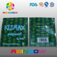 Buy cheap 3g KUSH Customized Three Side Seal Herbal Packaging Ziplock Bag from wholesalers