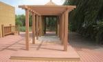 Buy cheap Brown Hollow Composite Pergola Material , Backyard Balcony Free Standing Pergola from wholesalers