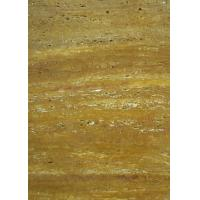 Buy cheap Gold Travertine Yellow Gloss Marble Floor Tiles Polished CE Certification from wholesalers
