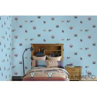 Buy cheap Blue Color Kids Bedroom Wallpaper English Letters Design Breathable Non Toxic from wholesalers