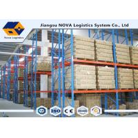 Buy cheap High Capacity Storage Pallet Warehouse Racking Metal Display With Frame Barrier product