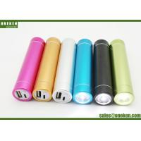 Buy cheap Tube Flashlight Smartphone Power Bank , Gold 2600mAh Portable Mobile Charger product