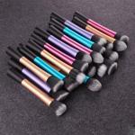 Buy cheap 5 PCS Cosmetic Brush Set Blue Long Aluminum Tube Aluminum Ferrule Material from wholesalers