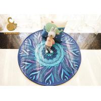 Buy cheap 100% Polyester Material Round Entrance Rugs Anti Slip Without Chemical from wholesalers